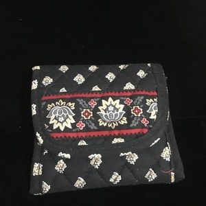 Black & Red Vera Bradley Wallet W Coin Compartment